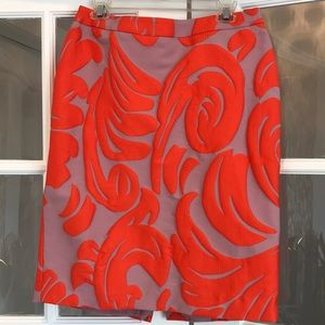 Ann Taylor Orange/Mauve Knee High Skirt Size 10